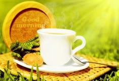 Bebida da boa manhã imagens de stock royalty free