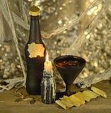 Bebida da bruxa com sucata de papel Fotos de Stock Royalty Free