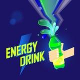 Bebida da energia em sparkly Imagens de Stock Royalty Free