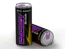 A bebida da energia pode Fotografia de Stock