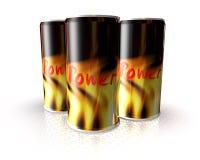 A bebida da energia pode Fotos de Stock Royalty Free