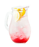 Bebida da limonada da melancia com gelo e laranja Fotos de Stock