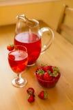 Bebida da morango Fotos de Stock Royalty Free