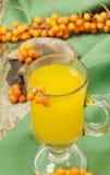 Bebida das bagas de espinheiro cerval do mar do fruto Fotografia de Stock