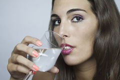 Bebida das mulheres Foto de Stock Royalty Free