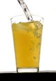 Bebida de la calabaza anaranjada con hielo Imágenes de archivo libres de regalías