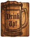 Bebida de la cerveza encima de la muestra libre illustration