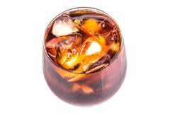 Bebida de la cola con el hielo II Fotografía de archivo libre de regalías