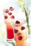 Bebida de la frambuesa Fotos de archivo libres de regalías