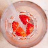 Bebida de la fresa Imágenes de archivo libres de regalías