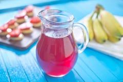Bebida de la fresa Fotografía de archivo