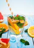 Bebida de la fruta cítrica del hielo Imagen de archivo