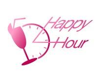 Bebida de la hora feliz en el vector de la barra Imagenes de archivo