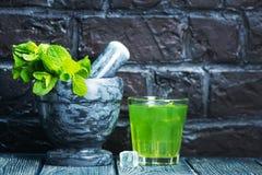 Bebida de la menta Fotografía de archivo