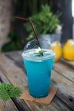 Bebida de la soda de Hawaii de los azules claros Fotos de archivo