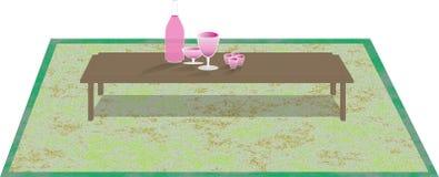 Bebida de la tabla del paisaje para el resto Imagen de archivo