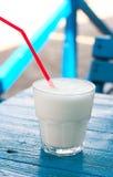 Bebida de leche en un vidrio Fotografía de archivo libre de regalías