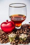 Bebida de los granos de café Foto de archivo