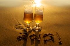 Bebida de oro foto de archivo