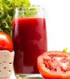Bebida de refrescamento de Juice Indicates Thirsty Drink And do tomate fotografia de stock