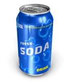 Bebida de restauración de la soda en poder del metal Foto de archivo