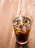Bebida del americano del hielo Imagenes de archivo