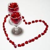 Bebida del amor Fotografía de archivo libre de regalías