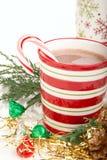 Bebida del cacao de la Navidad Imagen de archivo libre de regalías