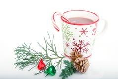 Bebida del cacao de la Navidad Fotografía de archivo libre de regalías