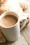 Bebida del cacao en la taza Imágenes de archivo libres de regalías