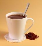Bebida del chocolate caliente Fotografía de archivo