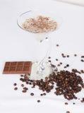 Bebida del chocolate con leche Fotos de archivo libres de regalías