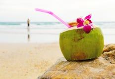 Bebida del coco Foto de archivo libre de regalías