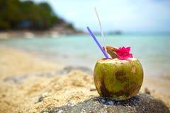 Bebida del coco Fotos de archivo libres de regalías