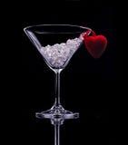 Bebida del día de tarjeta del día de San Valentín Imagenes de archivo