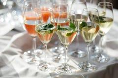 Bebida del evento de la boda del abastecimiento Imagen de archivo libre de regalías