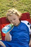 Bebida del fútbol Imagen de archivo libre de regalías