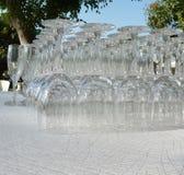 Bebida del jardín de los vidrios Imagen de archivo libre de regalías