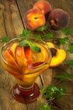 Bebida del melocotón Foto de archivo libre de regalías