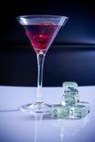Bebida del partido en el hielo imagen de archivo