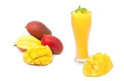 Bebida del smoothie del mango fotografía de archivo libre de regalías