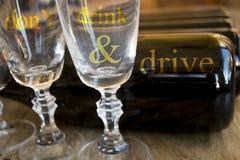 Bebida del ` t de Don y concepto de la impulsión imagen de archivo