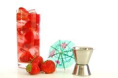 Bebida del verano de la fresa Fotos de archivo libres de regalías