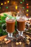 Bebida do cacau do Natal Fotos de Stock