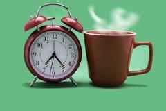 Bebida do caf? do amanhecer para acordar e come?ar um dia da nova obra imagens de stock