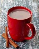 Bebida do chocolate quente fotos de stock