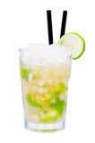 Bebida do cocktail de Caipirinha fotografia de stock royalty free