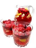 Bebida do cocktail do perfurador com fruta foto de stock royalty free