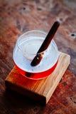 Bebida do cocktail do side-car em um olhar da estimulação do filme Imagens de Stock Royalty Free