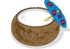 Bebida do coco Imagem de Stock Royalty Free